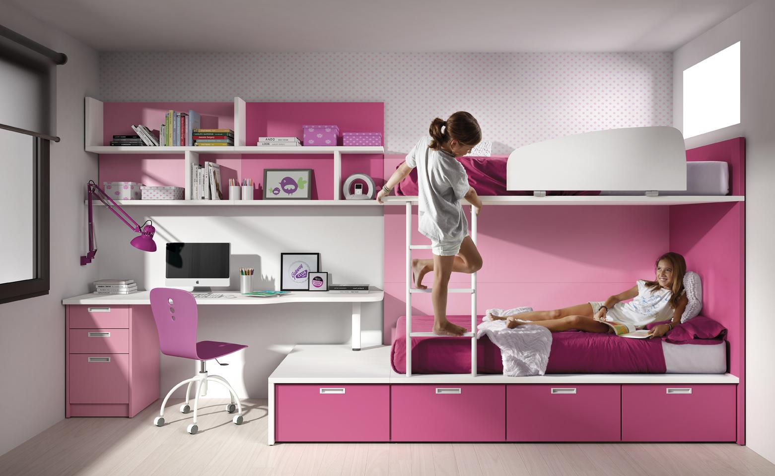 Tatat muebles a medida y m s expertos en mueble juvenil for Habitaciones para ninas con literas