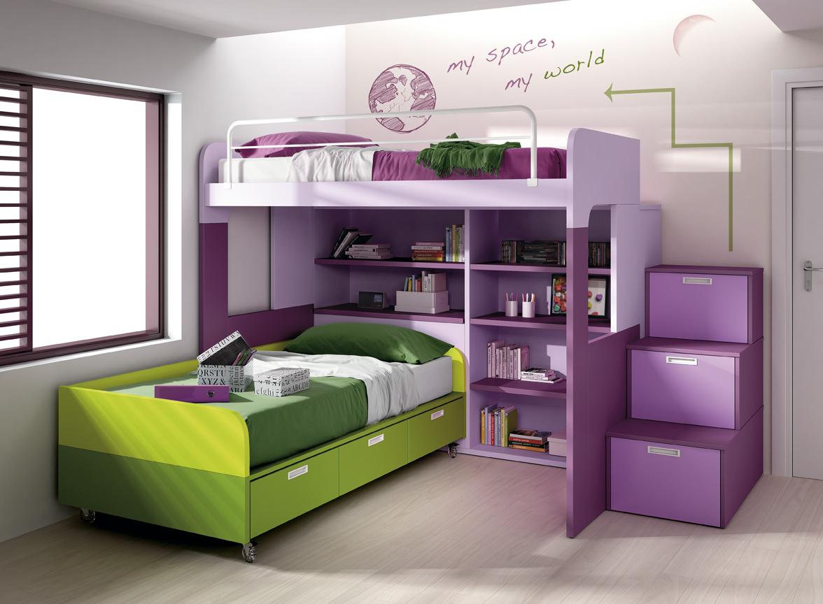 dormitorios juveniles modernos con dos camas – Dabcre.com