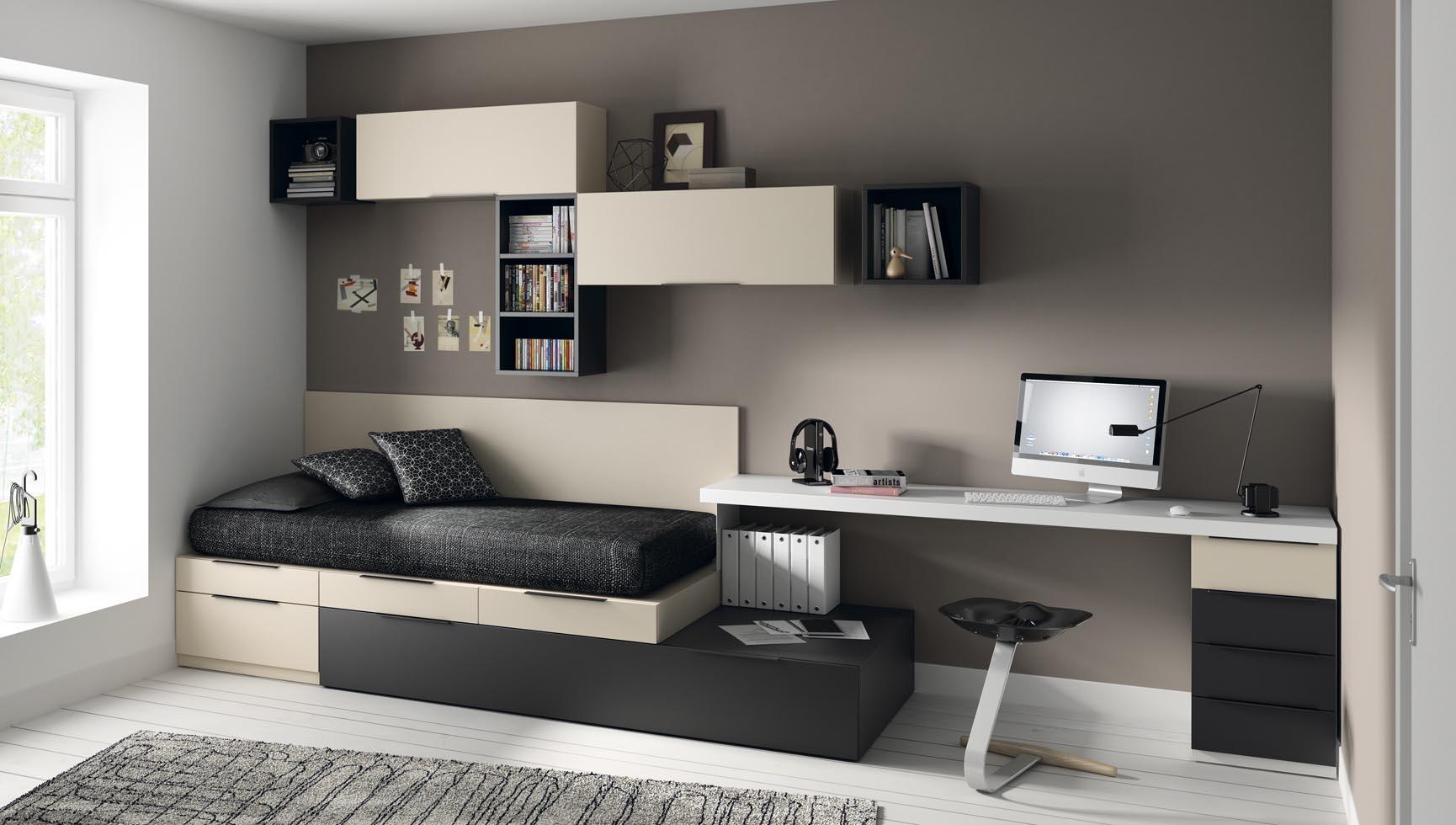 Dormitorios juveniles for Mesas de habitacion